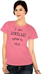woman in a binary age t-shirt